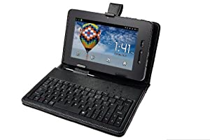 Storage Options 54045 7 Inch Keyboard & Wallet Compatible with Scroll Excel/Essential Tablet PC's
