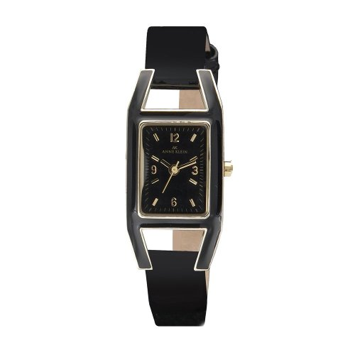 Anne Klein Women's Leather watch #10-8700BKBK