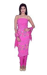 Apratim Women's Cotton Unstitched Dress Material (Pink)