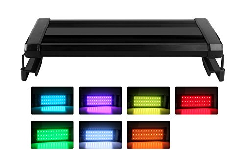 LED Aquarium Hood RGB Lights NetBoat 7W 136 LEDs Extendable 11-22.8inch Fish Tank Light for Freshwater and Saltwater (Aquarium Hood 55 Gal compare prices)