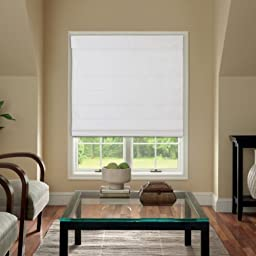 Cordless Fabric Roman Shade White 39x64