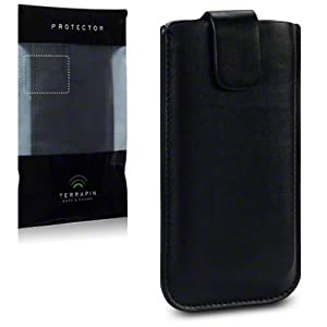 Terrapin Premium PU Leather Pocket Case for iPhone 5S - Black