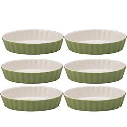 Mrs. Anderson\'s Baking Ceramic Oval Creme Brulee, Set of 6, Sage