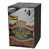 Natural Brew #4 Coffee Filters 3 Pack - 100 Filters Per Pack - 300 Filters Total