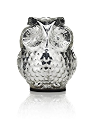 Small Glass Light Up Owl