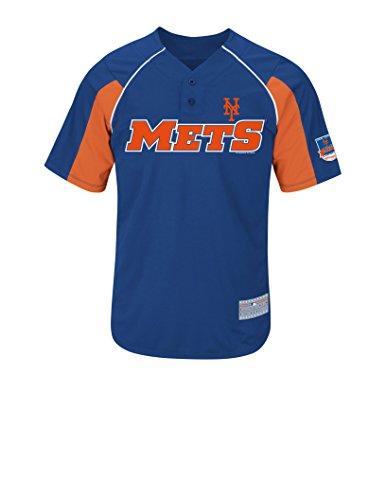 MLB New York Mets Men's Wright 5 Jersey, Deep Royal/Dark Orange/White, Medium (Mlb Men Jersey New York compare prices)