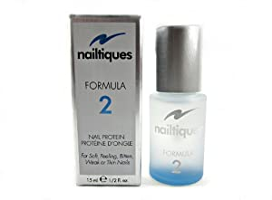 Nailtiques Nail Protein Formula 2, 0.5-Ounce Bottles (Pack of 2)