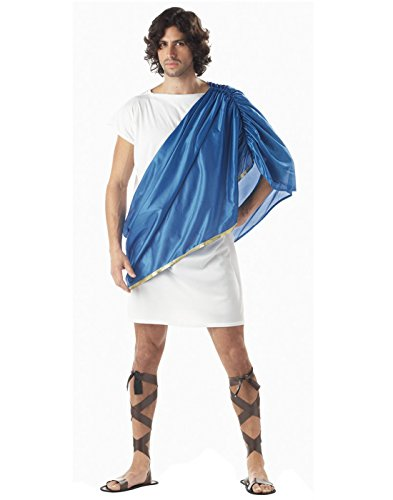 HDE Men's Roman/Greek Toga Tunic Halloween Costume Party Outfit
