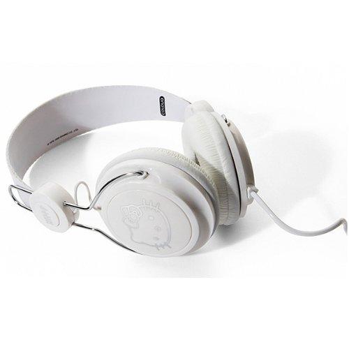 Hello Kitty ハロー キティー Headphone White/Silverの写真01。おしゃれなヘッドホンをおすすめ-HEADMAN(ヘッドマン)-