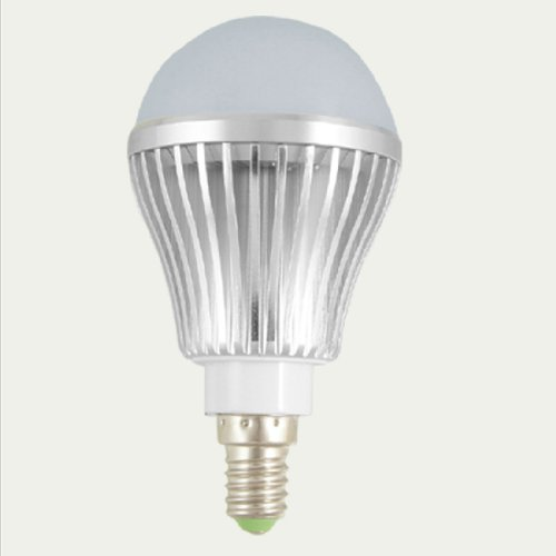 Ac 100-240V 5W 3000-3500K Led Globe Bulb E14 Base White Light