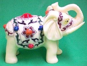 Ivory Elephant Figurines