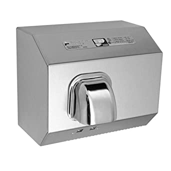 American Dryer DR10TNSS Stainless Steel Cover Automatic Hand Dryer, 110-120V, 1,725W Power, 60Hz