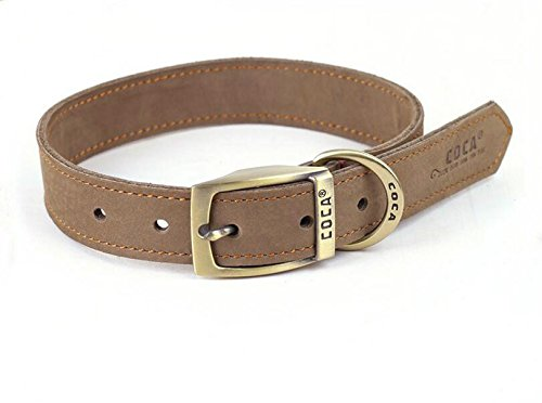 [Neonr Grind Arenaceous Soft Leather Pet Collars Genuine Cowhide Leather Material Personalized Zinc Alloy Buckle and Generous Fashion Collar for Middle Large] (Male Dominant Costume)