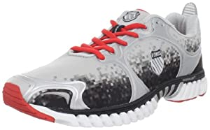K-Swiss Men's Kwicky Blade-Light Running Shoe,Silver/Black Digital/Fiery Red,7.5 M US