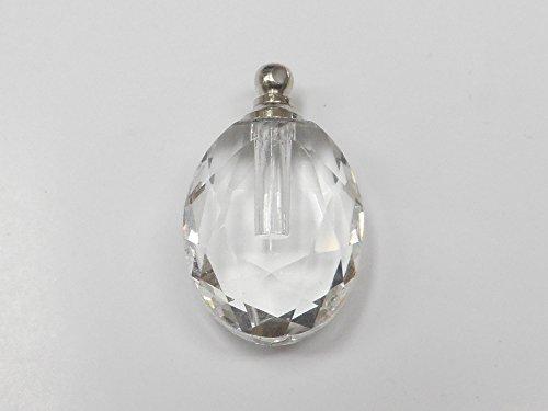 香水 ペンダント ネックレス/アロマ ペンダント ネックレス/ガラス容器 香水瓶 0.1cc クリスタル楕円型 ko-cda