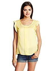 Lee Women's Body Blouse Shirt (LESH8400_Yellow_Large)