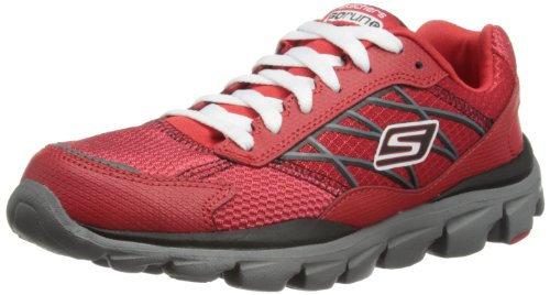 Skechers Boys Go Run Ride - Innate Low-Top 95673L Red/Grey 1.5 UK Child, 34 EU