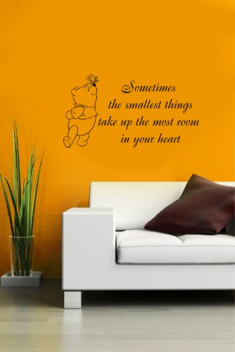 Housewares Vinyl Decal Winnie The Pooh Quote Small Thing In Heart Home Wall Art Decor Removable Stylish Sticker Mural Unique Design For Nursery Room front-1076464