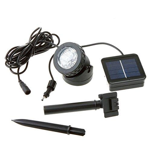 Lieyang Solar Powered 6 Led White Light Underwater Spotlight Black