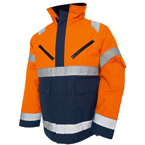 Blakläder High Vis Winterjacke Kl 3 Orange/Marineblau, 4827 1977 5389, Gr. XS
