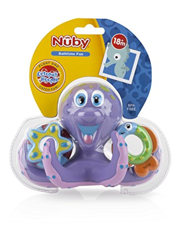 bath toy baby bathtub fun octopus hoopla floating ring bpa free toddle play pool ebay. Black Bedroom Furniture Sets. Home Design Ideas