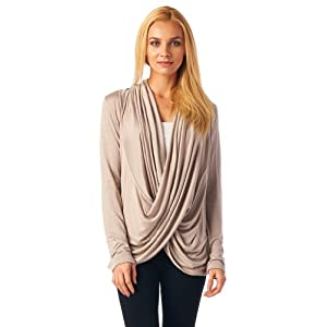 Popana Criss Cross Cardigan - Large Sand Made In USA