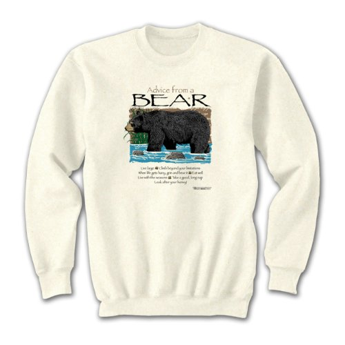 Advice From A Bear ~ Natural Sweatshirt