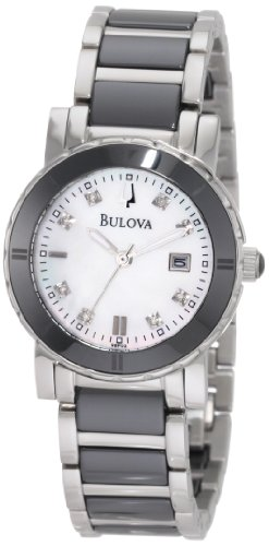 Bulova Women's 98P122 Highbridge Substantial Ceramic & Stainless Steel Watch