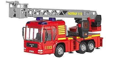 Dickie Toys 203716003 - Fire Hero, Feuerwehrauto inklusive Batterien, 43 cm