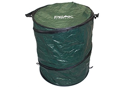Peak Performance Camping Pop Up Trash Can - Spring Loaded Collapsible Container (Folding Trash Can compare prices)