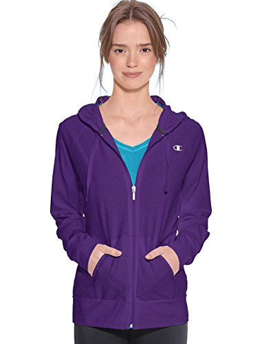 Champion Women`s Authentic Jersey Jacket,J7418,S,Electric Pu
