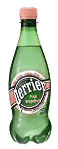 Perrier Sparkling Natural Mineral Water, Pink Grapefruit 16.9-ounce plastic bottles (Pack of 24)