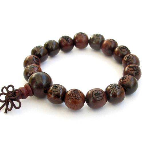 12mm-Tibetan-Buddhist-Wood-Buddha-Beads-Wrist-Mala