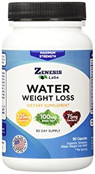 CLOSEOUT SALE 50% OFF – Water Pill Diuretic – Weight Loss – 90 Capsules (50% More Capsules Than…