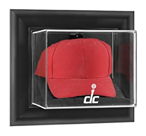 Washington Wizards Black Framed Wall- Cap Display Case - Mounted Memories Certified -... by Sports Memorabilia