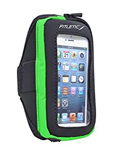 Fitletic Phone Arm Band 2, Black/Green, Large/X-Large