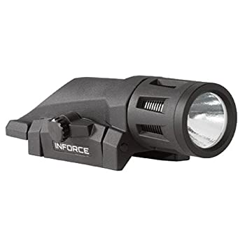 InForce W-05-1 400 Lumens Gen 2 Multi-Function Weapon Mounted Light, White/Black