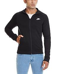 Nike Men's Polyester Track Jacket (885179603487_678627-010_Large_Black/(White))