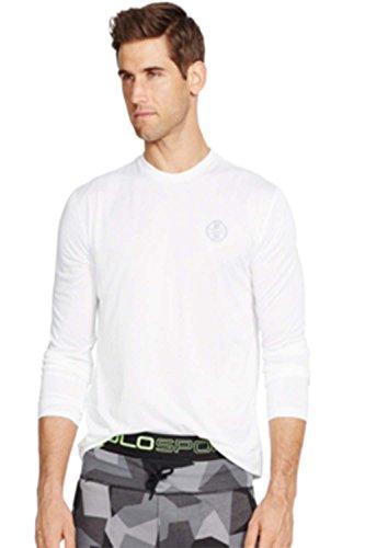 Polo Ralph Lauren Men's Long-sleeved Performance Shirt (Large, Pure White)