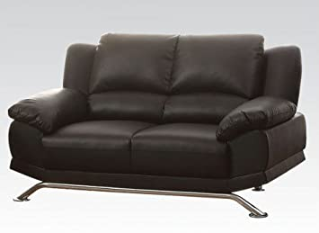 Maigan Leather Loveseat in Black by Acme Furniture