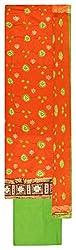 Royal Women's Cotton Unstitched Salwar Suit (Orange and Green)
