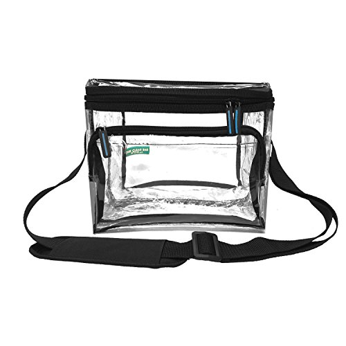 Clear Lunch Bag Medium Black Trim - 1