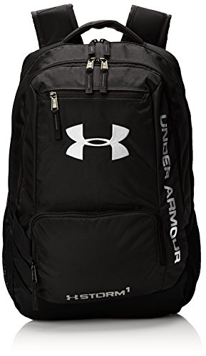 Under Armour, Zaino multifunzione Hustle, Nero (Blk/Slv), Taglia unica