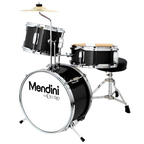 mendini-by-cecilio-metallic-black-13-inch-3-piece-junior-drum-set-mjds-1-bk