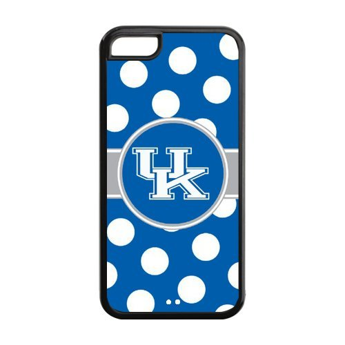 NCAA Polka Dots Design Kentucky Wildcats Logo for iPhone5C Durable (Plastic + Rubber) Case at Color Your Dream Mall at Amazon.com