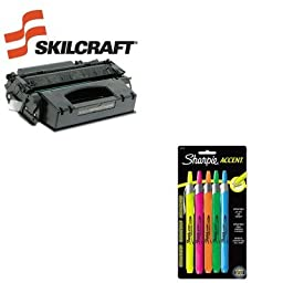 KITSAN28175PPSKLQ5949X - Value Kit - NIB - NISH 751000NSH0358 Compatible Reman High-Yld Q5949X 49X Toner (SKLQ5949X) and Sharpie Retractable Highlighters (SAN28175PP)