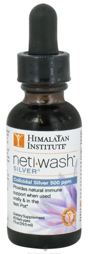 Himalayan Institute Neti Wash Silver Colloidal Silver 500 Ppm - 1 Oz, 2 Pack