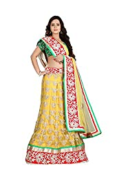Fabdeal Wedding Wear Yellow Colored Un-Stitched Lehnga Choli
