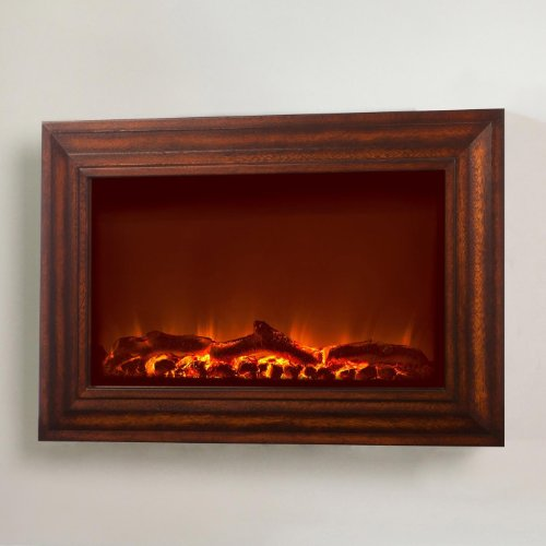 Fire Sense Stainless Wall Mounted Electric Fireplace image B005T067GM.jpg