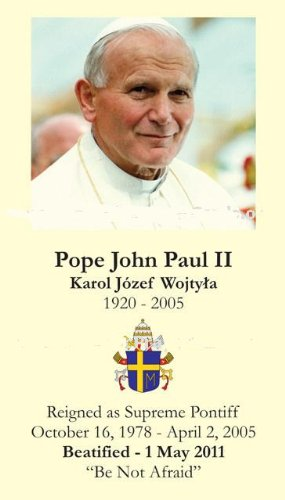 English Special Limited Edition Commemorative John Paul Ii Beatification Prayer Card